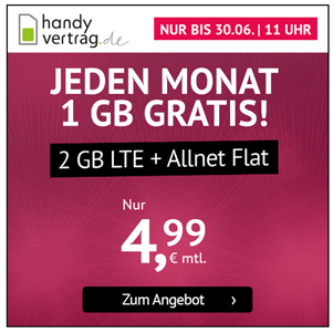 Bild zu 6GB LTE Datenflat + Allnet Flat im o2 Netz für 7,99€/Monat–monatlich kündbar