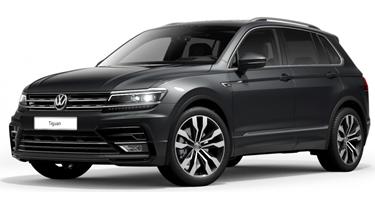 Bild zu [Gewerbe] Volkswagen Tiguan Highline 2,0 l TDI SCR 4MOTION 140 kW **R-Line Exterieur** für 159€ – LF 0,42