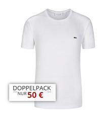 Bild zu Lacoste T-Shirts mit Rundhals oder V-Neck im 4er Pack für 90€