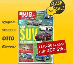 """Bild zu Jahresabo der Zeitschrift """"auto motor und sport"""" für 119,20€ + bis zu 100€ Prämie"""