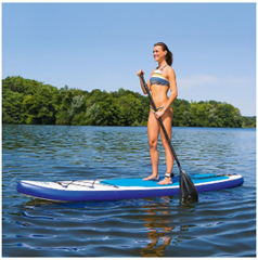 Bild zu EASYmaxx Stand-Up-Paddle-Board (320cm, aufblasbar) für 222€ (Vergleich: 303,99€)
