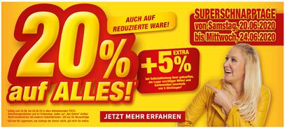 Bild zu Poco: 20% Rabatt auf alles (auch auf reduzierte Ware) + 5% Extra beim Kauf im Markt