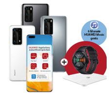 Bild zu Huawei P40 Pro für 49€ mit o2 Free M Boost (40GB LTE, SMS und Sprachflat) für 34,99€/Monat inkl. gratis Watch, Waage und 6 Monate Music