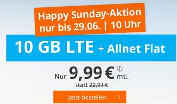 Bild zu bis Montag 10 Uhr: 10GB LTE Datenflat, SMS und Sprachflat im o2 Netz für 9,99€/Monat – monatlich kündbar