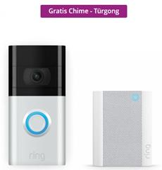 Bild zu Ring Doorbell 3 inkl. Ring Chime Pro (Gen 2) für 199,95€ (VG: 257,97€)