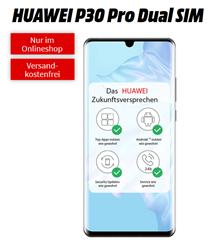Bild zu [Top] HUAWEI P30 Pro Dual SIM für 49€ mit 10GB LTE Datenflat und Sprachflat im Telekom-Netz für 26,99€/Monat