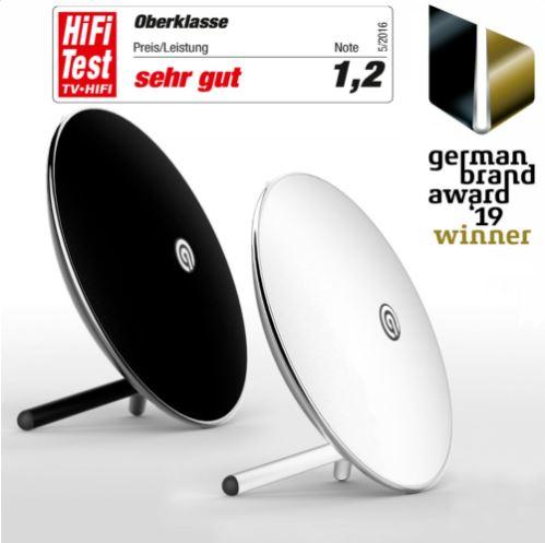 Bild zu NINETEC Luna Bluetooth Lautsprecher (Wireles,s NFC, Freisprechfunktion, schwarz oder weiß) für 34,99€ (VG: ab 49,99€)