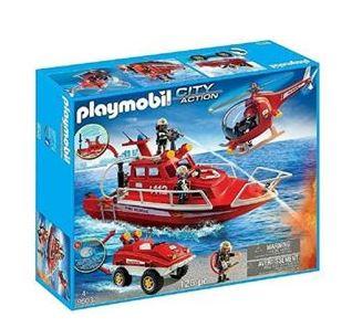 Bild zu PLAYMOBIL 9503 Feuerwehr Mega Set mit Unterwassermotor für 39,99€ (VG: 60,49€)