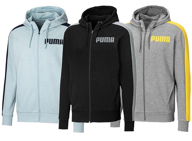 Bild zu PUMA Contrast Herren Sweatjacke mit Kapuze Männer Sweat Basics für 23,99€ (VG: 39,95€)