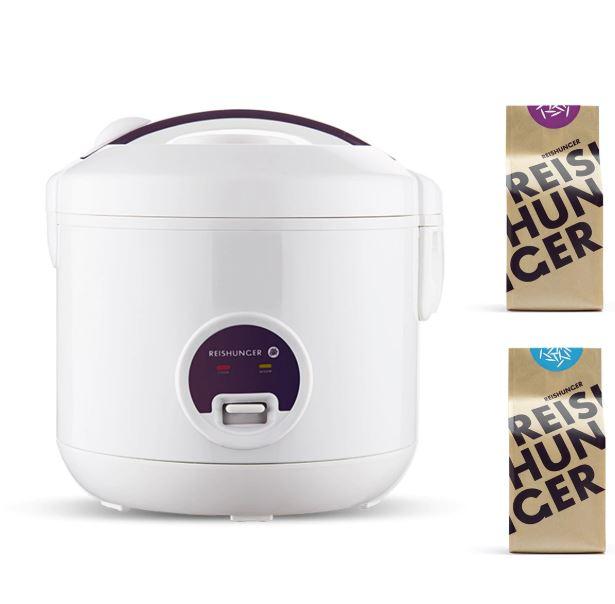Bild zu Reishunger Reiskocher 500W 1,2 l & Bio Basmati Reis und Jasmin Reis Bundle für 27,18€ (VG: 39,99€)