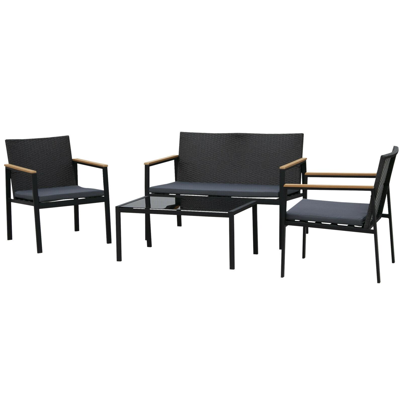 Bild zu 4-teilige Rattan Garten-Sitzgruppe für 134,91€ (Vergleich: 161,91€)