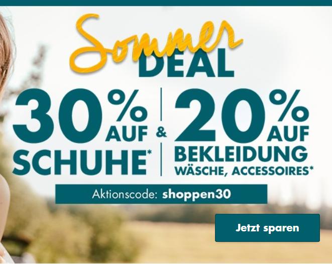 Bild zu Galeria: 30% Rabatt auf Schuhe und 20% Rabatt auf Bekleidung, Wäsche und Accessoires