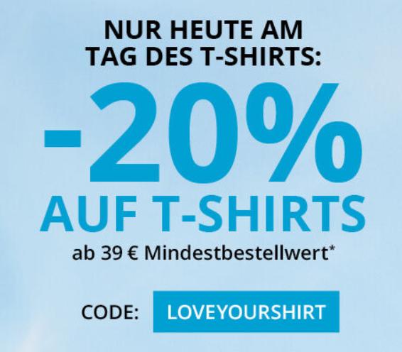 Bild zu Takko: 20% Rabatt auf T-Shirts (MBW: 39€)
