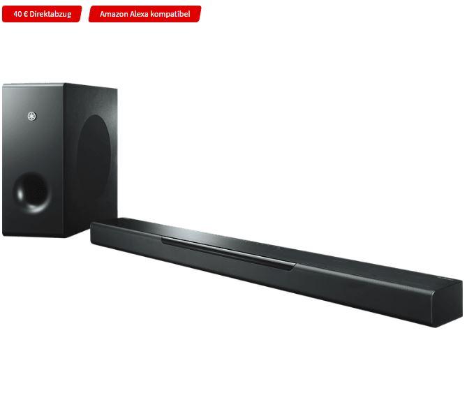 Bild zu YAMAHA MusicCast Bar 400, Soundbar Schwarz für 459,99€ (VG: 489,99€)