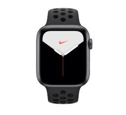 Bild zu Apple Watch Series 5 GPS 44mm Grey Aluminum Case mit NIKE Sport Armband schwarz für 419,90€ (VG: 448,67€)