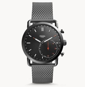 Bild zu FOSSIL Herren Hybrid Smartwatch Commuter Edelstahl Grau für 100€