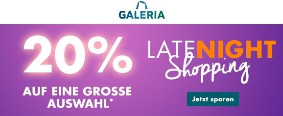 Bild zu Galeria: 20% Rabatt auf eine große Auswahl an Marken