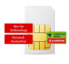 Bild zu 18GB LTE Datenflat, SMS und Sprachflat im Vodafone Netz für 19,99€/Monat inkl. 100 MediaMarkt Gutschein
