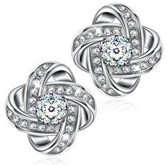 Bild zu Alex Perry Geschenk Damen Ohrstecker, 925 Sterling Silber, 5A Zirkonia für 8,99€