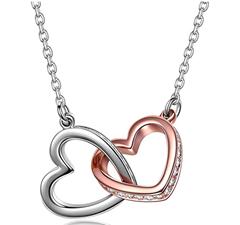 Bild zu Kami Idea Halskette mit Herz zu Herz Anhänger und Kristall von Swarovski für 8,99€