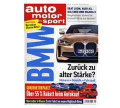 """Bild zu 26 Ausgaben der Zeitschrift """"auto motor und sport"""" für 117€ + 110€ Amazon Gutschein als Prämie"""