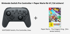 Bild zu Nintendo Switch Pro Controller + Paper Mario – The Origami King für 87,72€