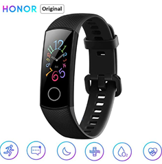 Bild zu Honor Band 5 Fitness Smart Armband 0,95 Zoll (AMOLED, Bluetooth 4.2, Smart Watch, 5ATM wasserdichte, schwarz) für 25,94€