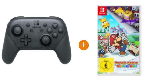Bild zu Nintendo Switch Pro Controller + Game: Paper Mario für 97,47€ (VG: 113,93€)