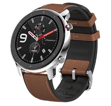 Bild zu AMAZFIT GTR 47mm Sports Smartwatch (Edelstahl, Leder, Bluetooth) für 98,10€ (VG: 120€)