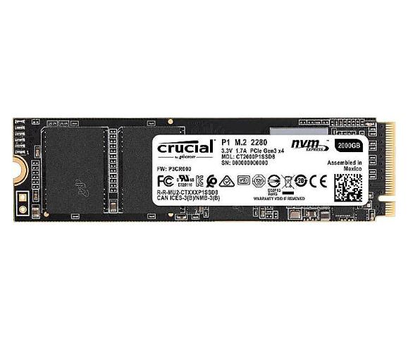 Bild zu CRUCIAL P1, 1 TB, SSD, intern für nur 77,01€ (VG: 96,35€)
