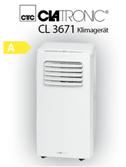 Bild zu Clatronic CL 3671 Mobiles Klimagerät, EEK A, Kühlleistung 7000 BTU, LED-Display, Fernbedienung [Energieklasse A] für 152,91€ (VG: 199€)