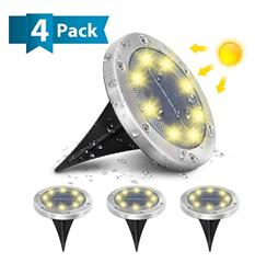 Bild zu 4er Pack AMBOTHER Solar Bodenleuchten (3000K Warmweiß, IP65) für 13,92€