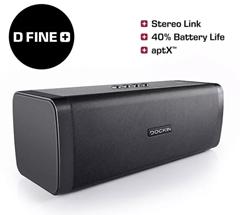 Bild zu DOCKIN D Fine+ BT Bluetooth Lautsprecher (Schwarz, Wasserfest) für 109,98€ (Vergleich: 134,95€)