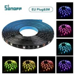 Bild zu Sonoff LED Streifen 5 Meter RGB (via App kompatibel mit Amazon Alexa und Google Assistant) für 15,99€