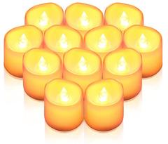 Bild zu 12 LED Teelichter flackernd mit CR2032 Batterien (enthalten) für 8,44€