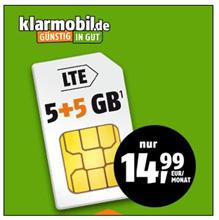 Bild zu 10GB LTE Datenflat (bis 21.6Mbit/s) mit SMS und Sprachflat im Telekom-Netz für 14,99€/Monat