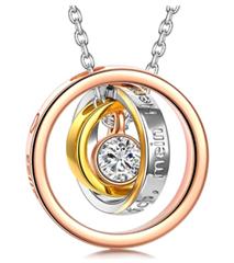 Bild zu Kami Idea Halskette – EWIG – mit Rosegold Anhänger für 9,99€