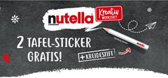 Bild zu Nutella Glas kaufen und gratis zwei Tafel-Sticker und einen Kreidestift abstauben