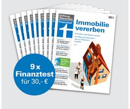 """Bild zu 9 Ausgaben Finanztest (Vergleich: 51,75€) + Finanztest """"Vererben und Erben"""" oder """"Geldanlage für Anfänger"""" (Vergleich je 19,90€) + Notizbuch für 30€"""
