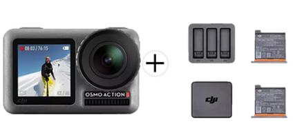 Bild zu DJI Osmo Action Cam mit 2 Bildschirmen 11m wasserdicht 4K HDR-Video + Action Lade-Kit inkl. 2 Akkus ab 281,97€ (VG: 313,89€)