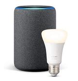 Bild zu AMAZON Echo Plus 2. Generation inkl. Hue White E27 Lampe für 68,22€ (Vergleich: 87,14€)