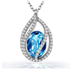 Bild zu [bis 22 Uhr] Kami Idea – Tränen der Meerjungfrau–Halskette mit Kristall von Swarovski für 9,99€