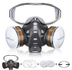 Bild zu NASUM M301 Atemschutzmaske inkl. Filter (geeignet unter anderem für Werkstatt/Bau) für 18,19€