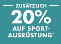 Bild zu Galeria: 20% Extra-Rabatt auf Sportausrüstung