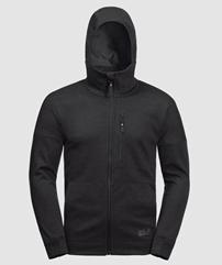 Bild zu Jack Wolfskin Riverland Hooded Jacket in Schwarz für 51,64€ (VG: 69,90€)