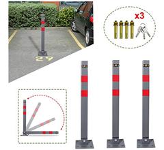 Bild zu 3er Pack Parkplatzsperren inkl. Schlüssel aus Edelstahl für 43,39€