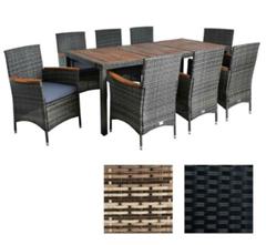 Bild zu ESTEXO Polyrattan Sitzgruppe für 8 Personen in zwei Farben für je 399,95€ (Vergleich: 549,95€)
