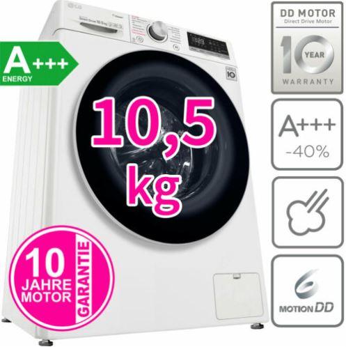 Bild zu LG A+++ 10,5 kg Waschmaschine (Direktantrieb,Frontlader, Dampf Funktion, 1400 U/min) für 479,99€ (VG: 582,24€)