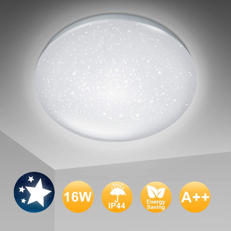 Bild zu 30% Rabatt auf Hengda LED Deckenleuchte, so z.B. Sternendekor 16W 1440Lm Kaltweiß für 15,39€