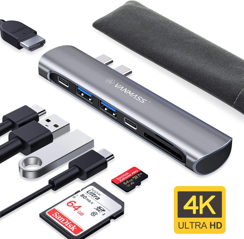 Bild zu 7in1 VanMass USB-C Hub für MacBook Pro und MacBook Air für 19,99€